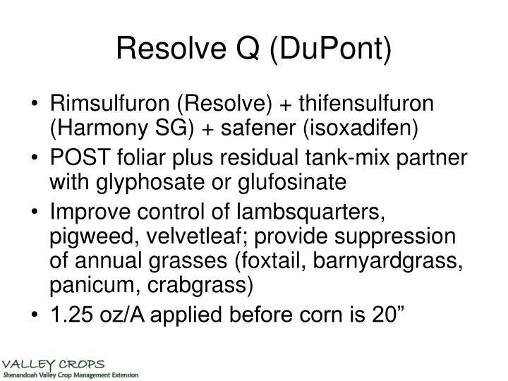 Resolve Q (DuPont)