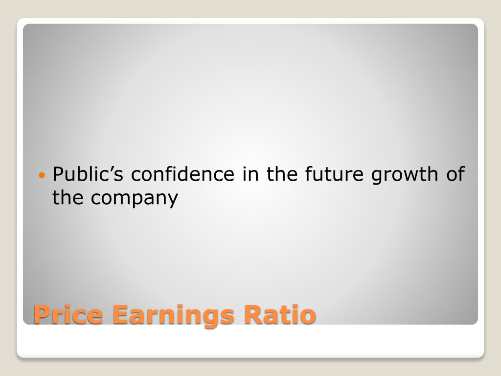 Public's confidence in the future growth of the company