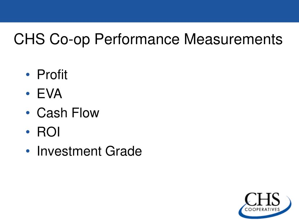 CHS Co-op Performance Measurements