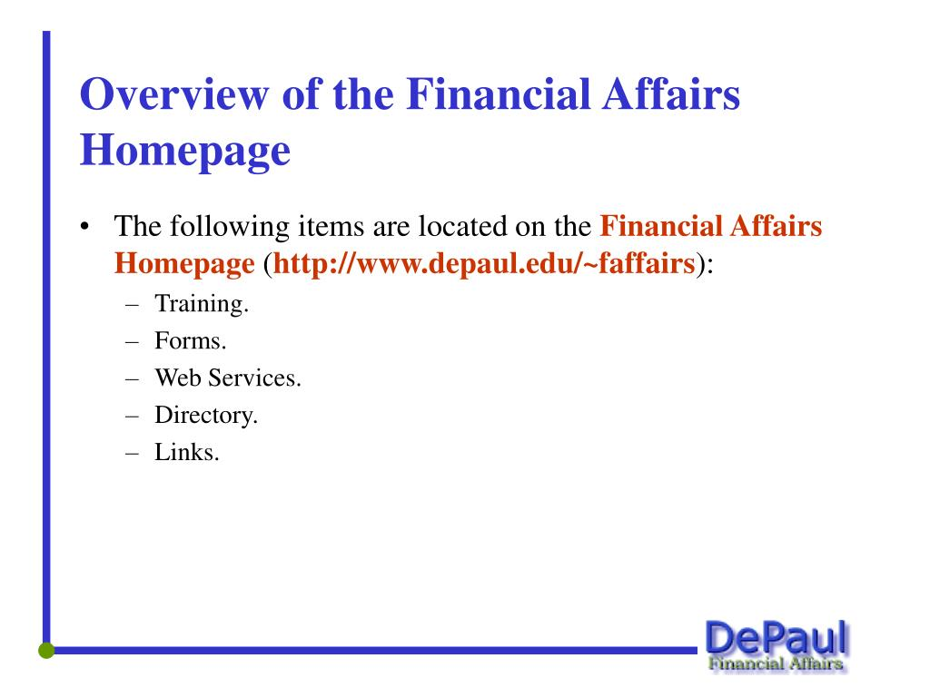 The following items are located on the
