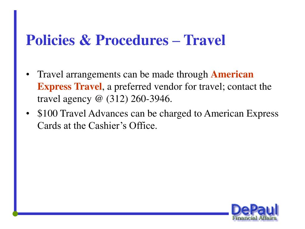 Policies & Procedures – Travel