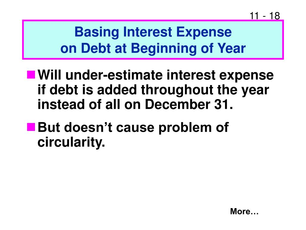Basing Interest Expense