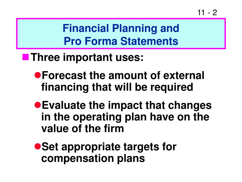 Financial Planning and