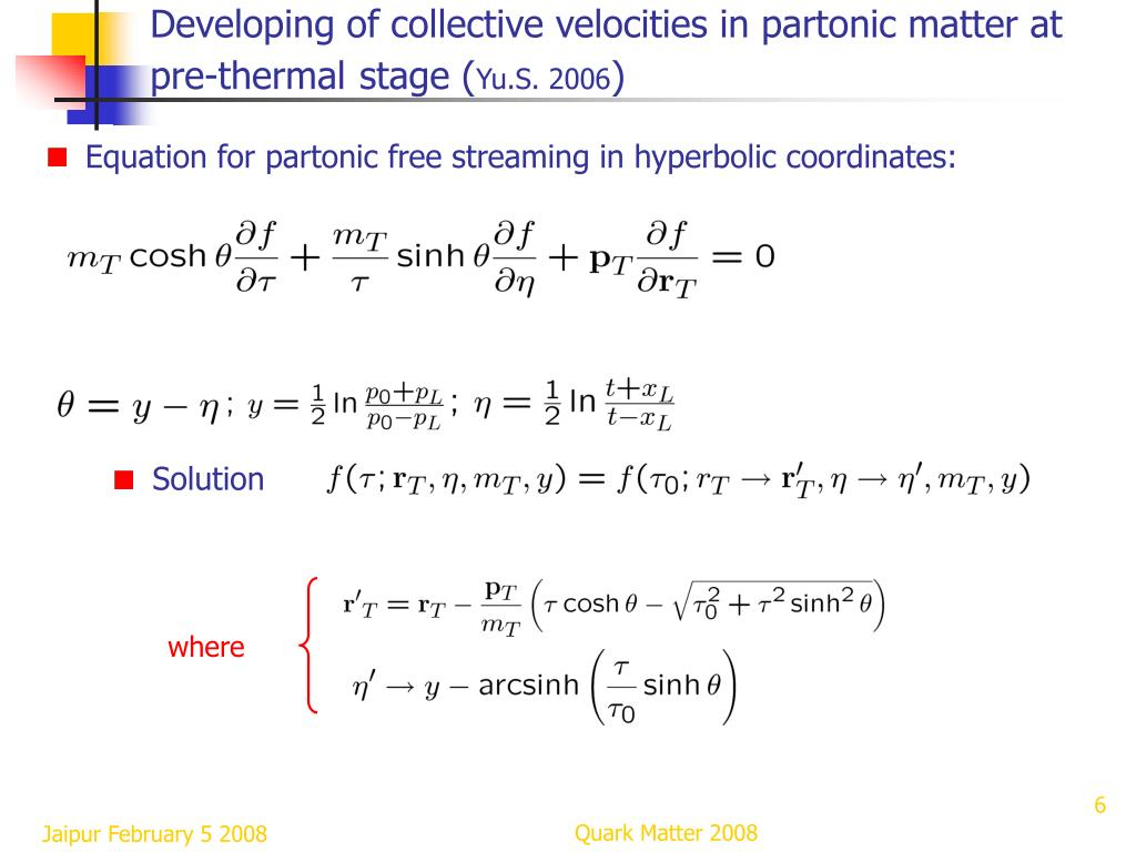 Developing of collective velocities in partonic matter at pre-thermal