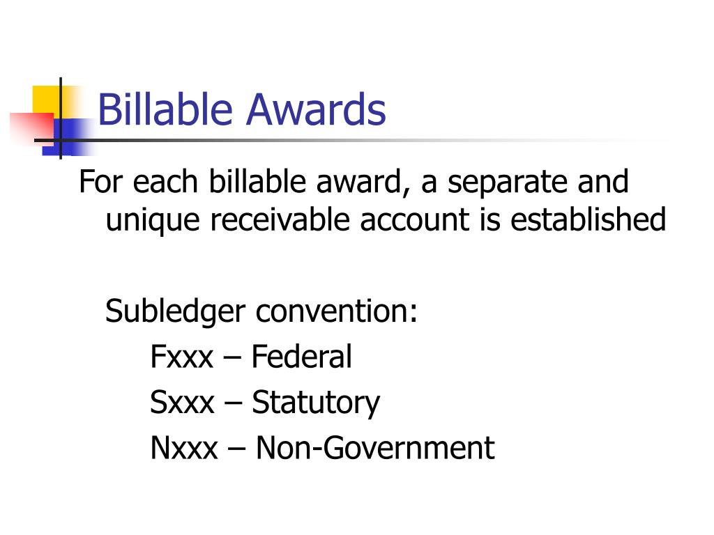 Billable Awards