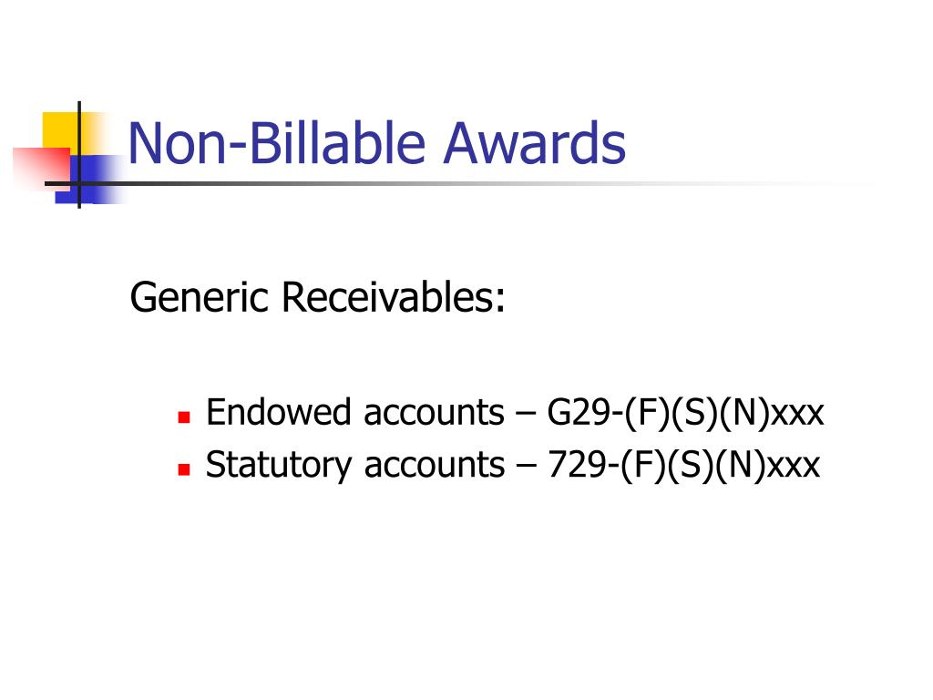 Non-Billable Awards