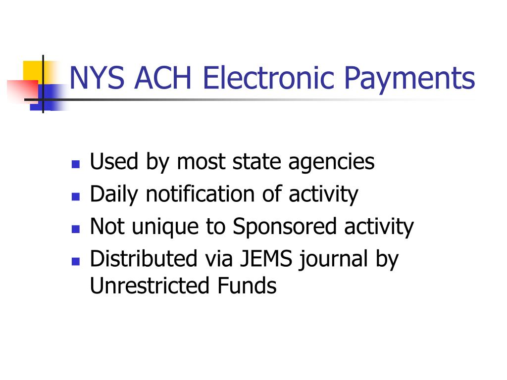 NYS ACH Electronic Payments
