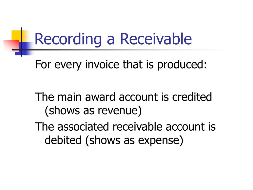 Recording a Receivable