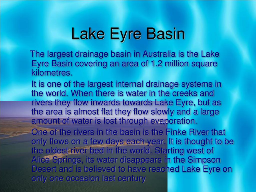 Lake Eyre Basin