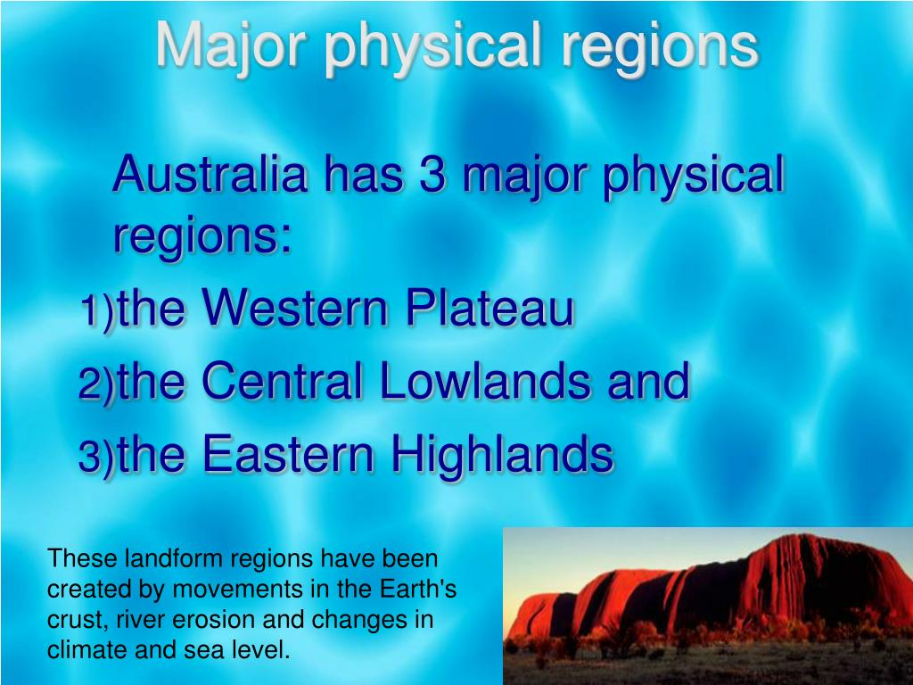 Major physical regions