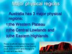 major physical regions