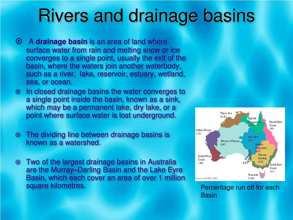 Rivers and drainage basins