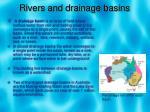 rivers and drainage basins