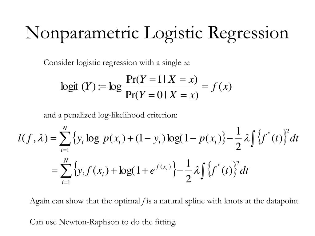 Nonparametric Logistic Regression