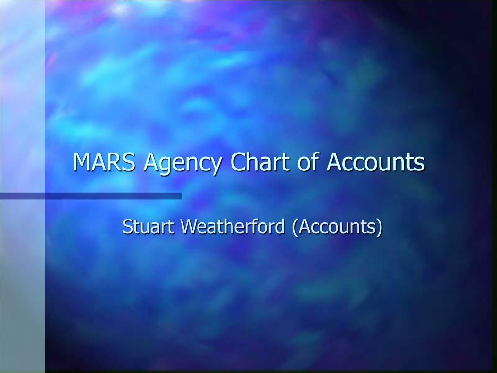MARS Agency Chart of Accounts