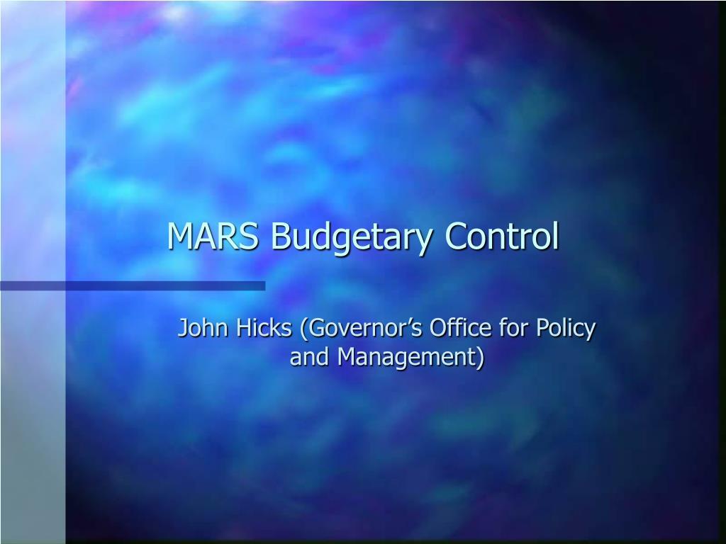 MARS Budgetary Control