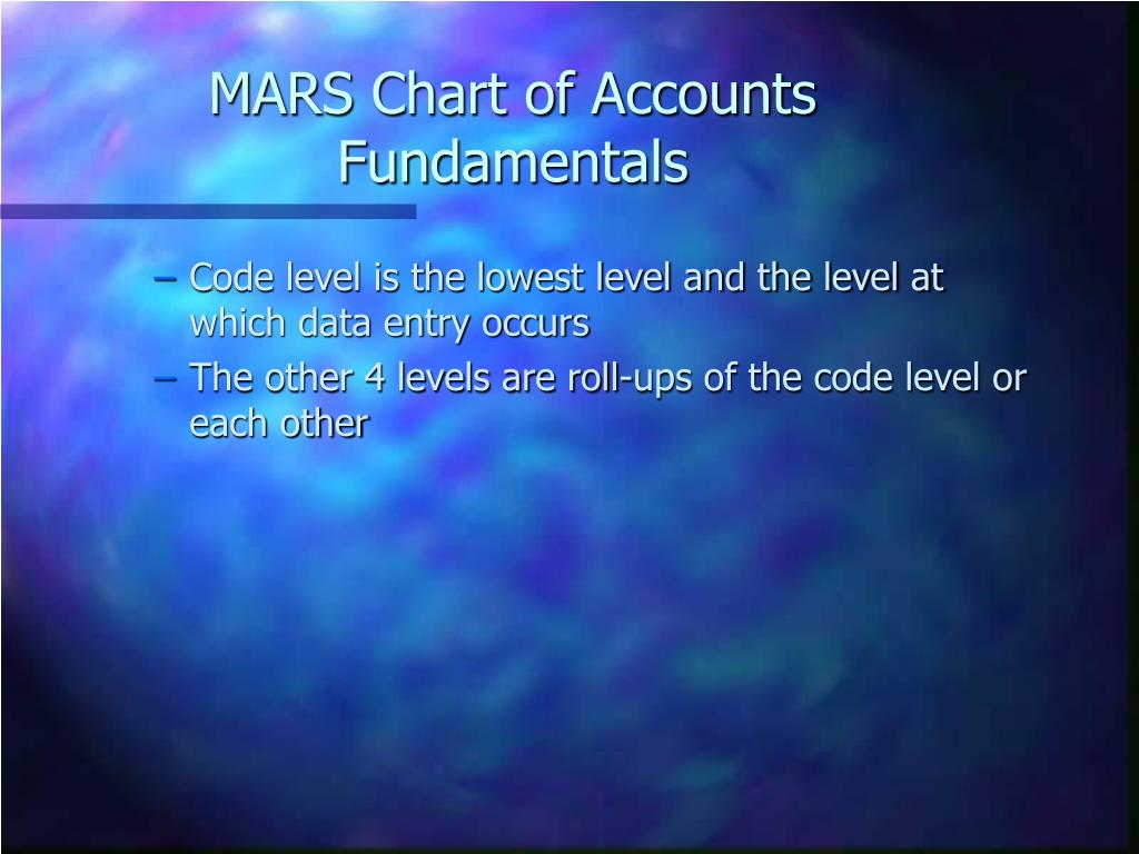 MARS Chart of Accounts Fundamentals