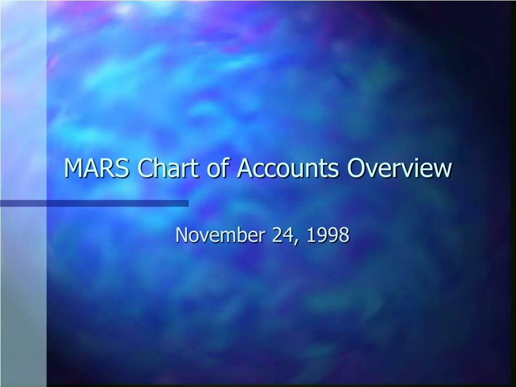 MARS Chart of Accounts Overview