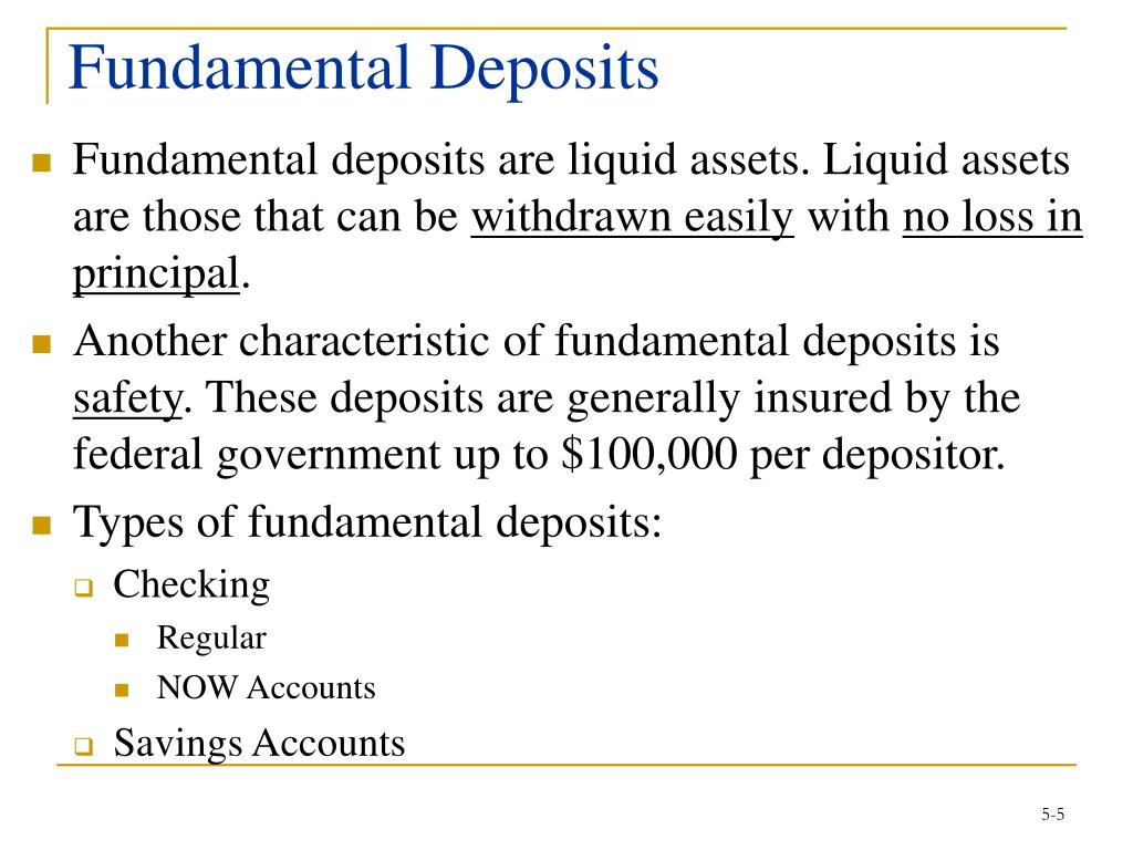 Fundamental Deposits