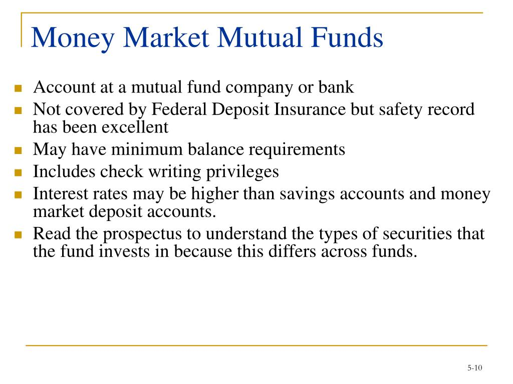 Money Market Mutual Funds
