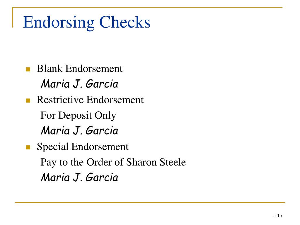 Endorsing Checks