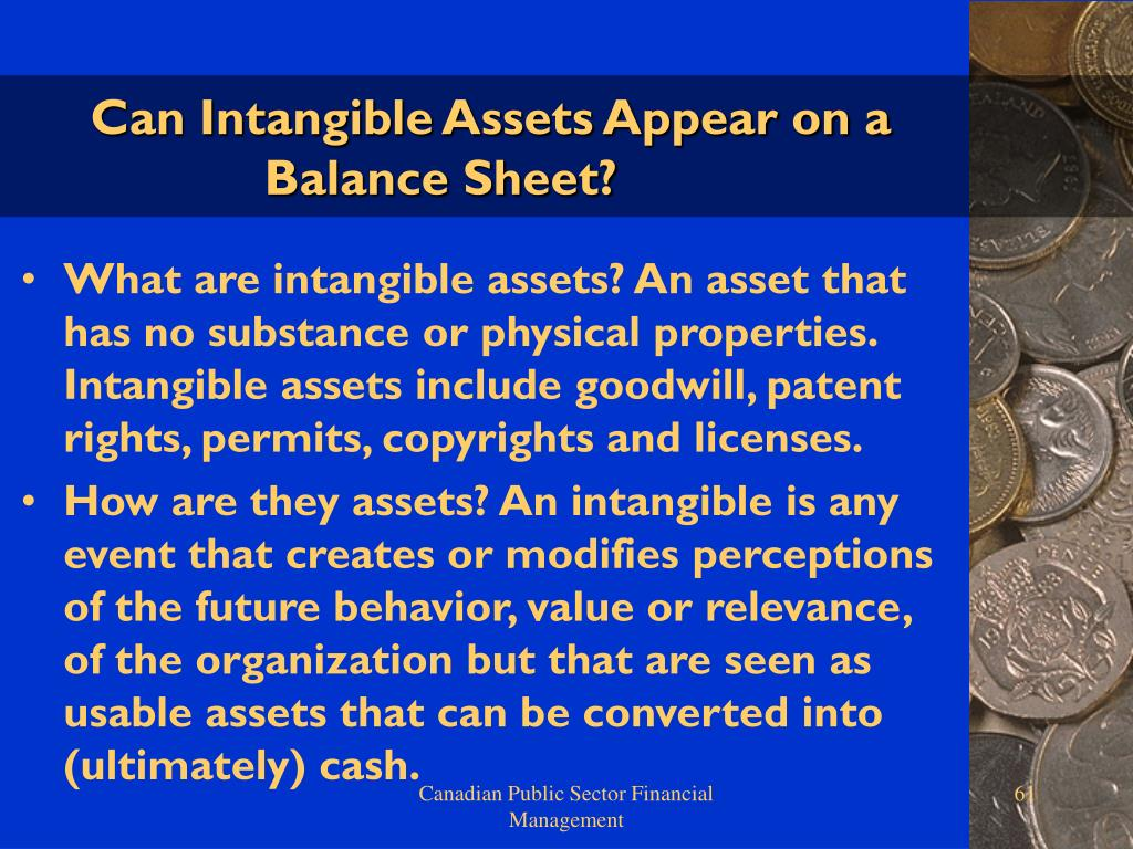 Can Intangible Assets Appear on a Balance Sheet?
