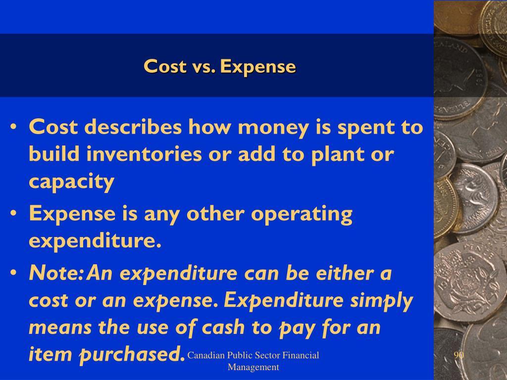Cost vs. Expense