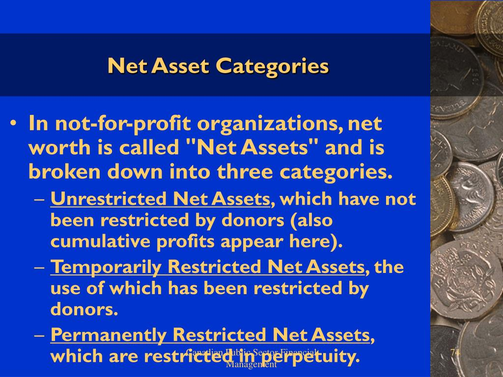 Net Asset Categories