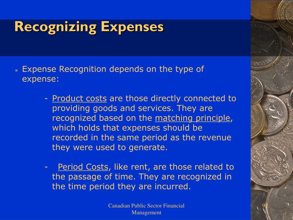 Recognizing Expenses