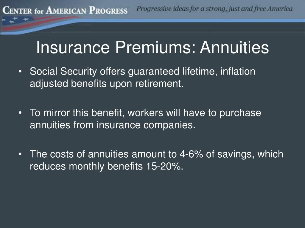Insurance Premiums: Annuities