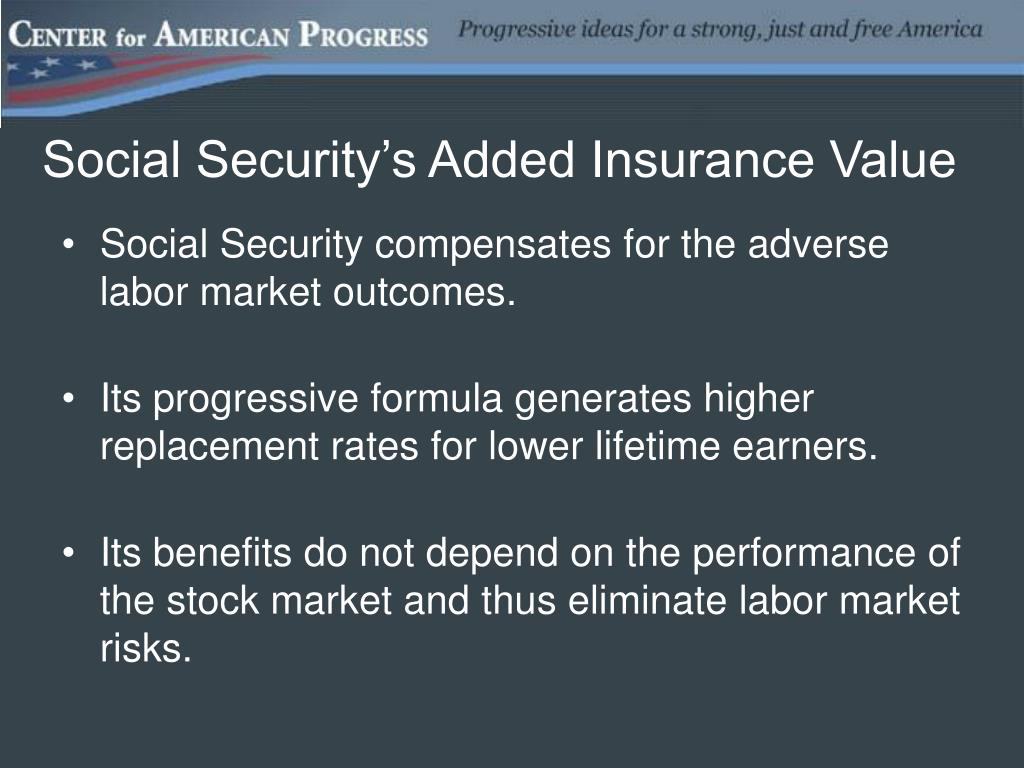 Social Security's Added Insurance Value