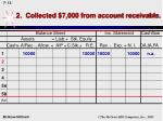 2 collected 7 000 from account receivable