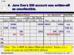 4 jane doe s 50 account was written off as uncollectible18