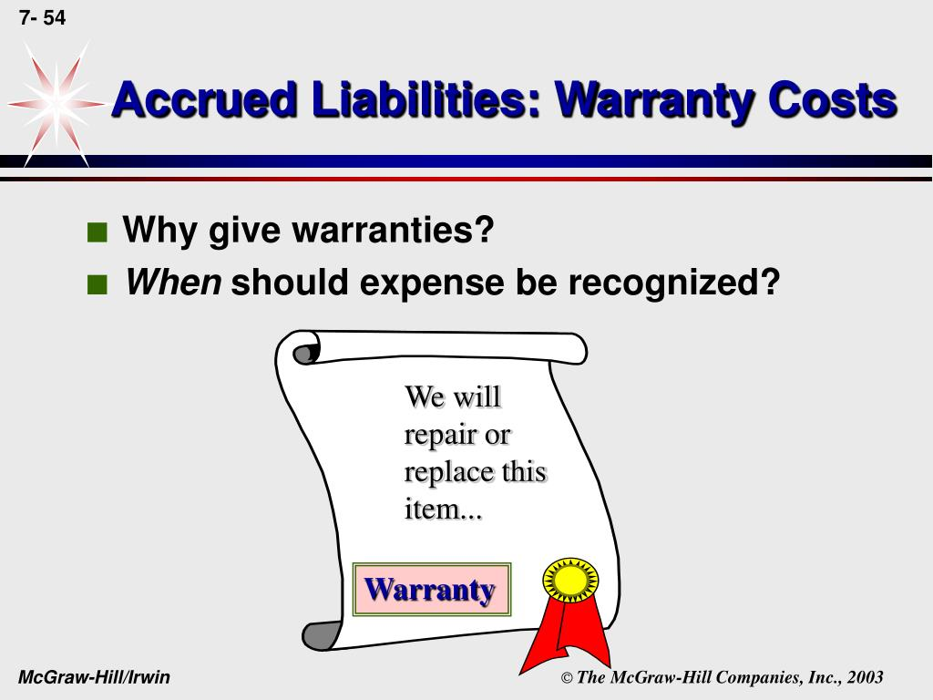 Accrued Liabilities: Warranty Costs