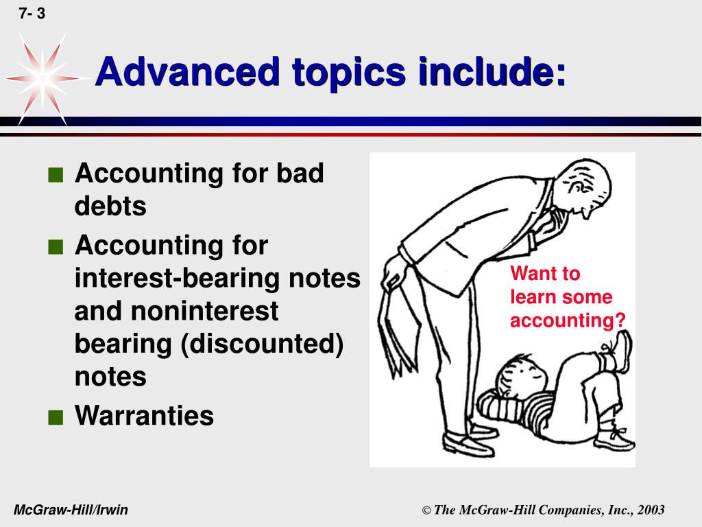Advanced topics include:
