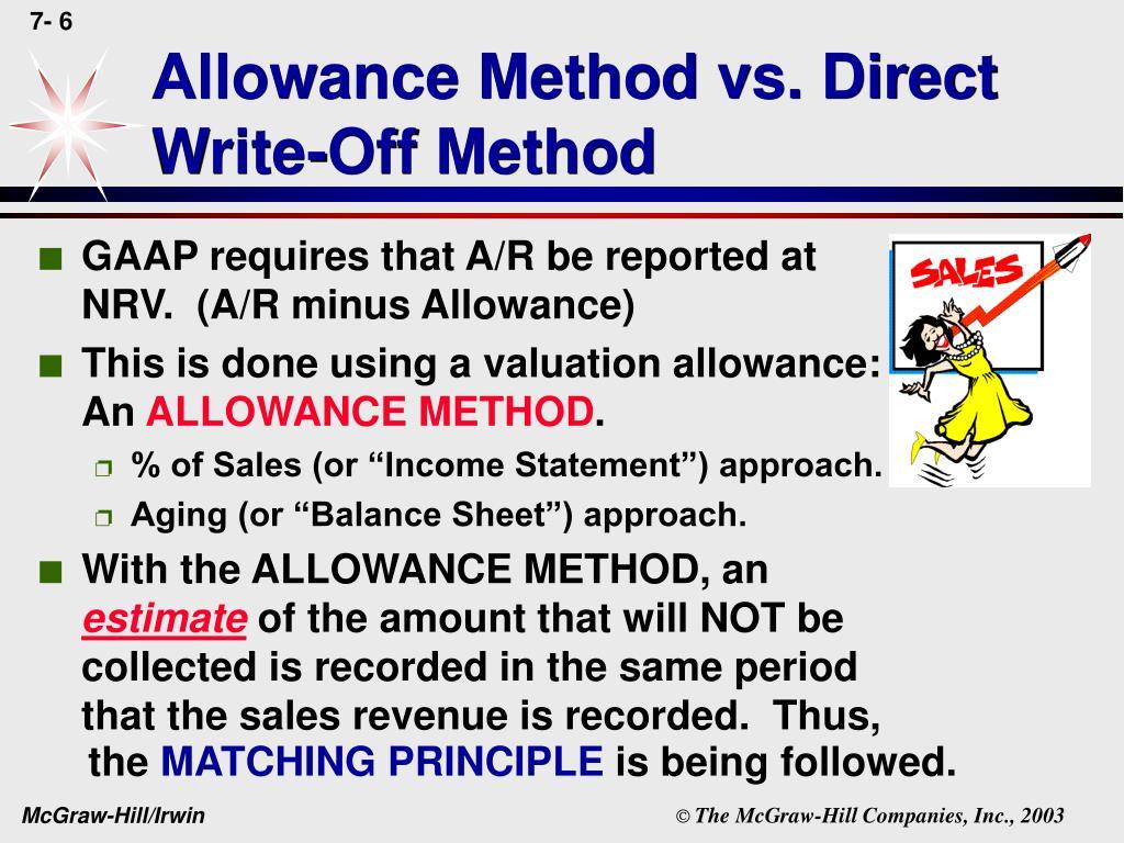 Allowance Method vs. Direct Write-Off Method