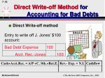 direct write off method for accounting for bad debts