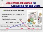 direct write off method for accounting for bad debts52