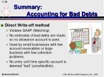 summary accounting for bad debts50