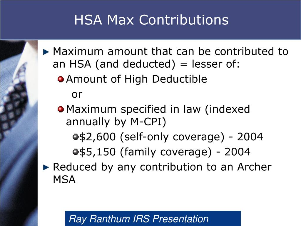 HSA Max Contributions
