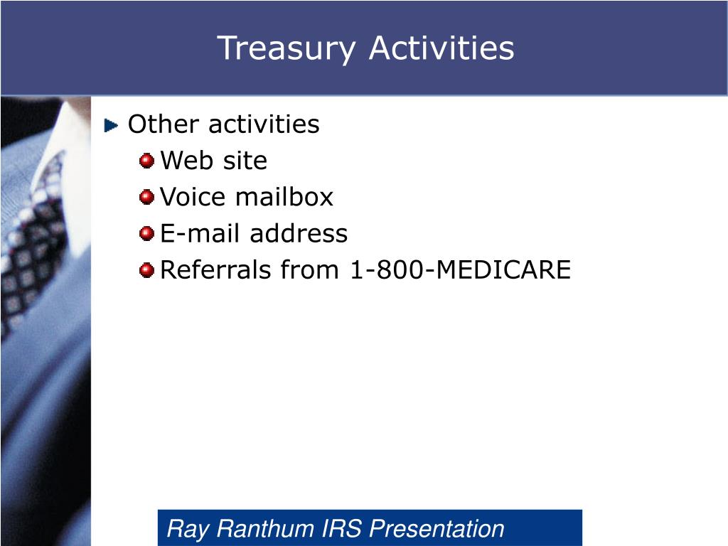 Treasury Activities