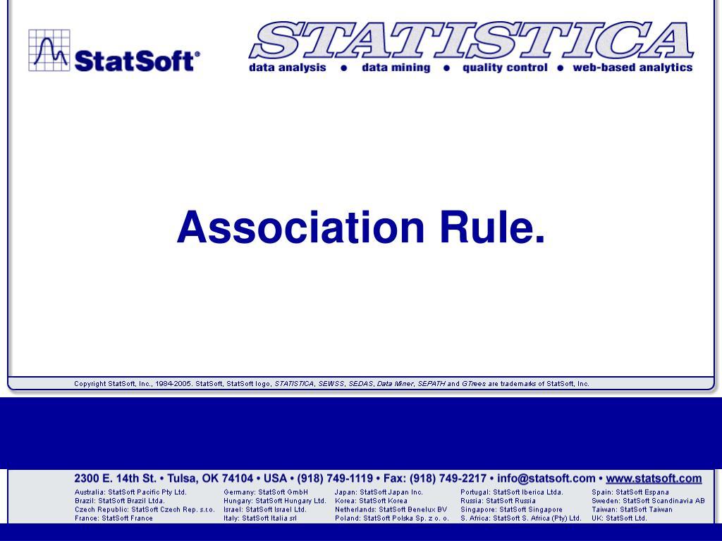 Association Rule.