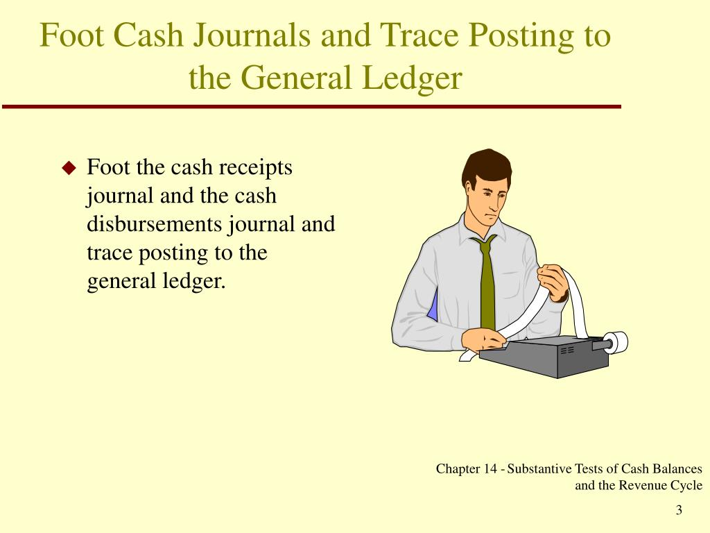 Foot Cash Journals and Trace Posting to the General Ledger
