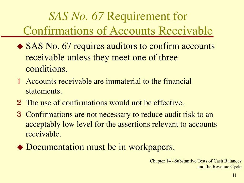 SAS No. 67