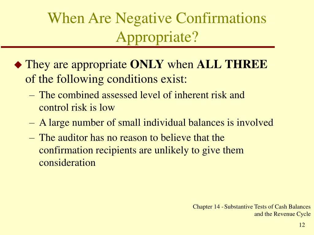 When Are Negative Confirmations Appropriate?