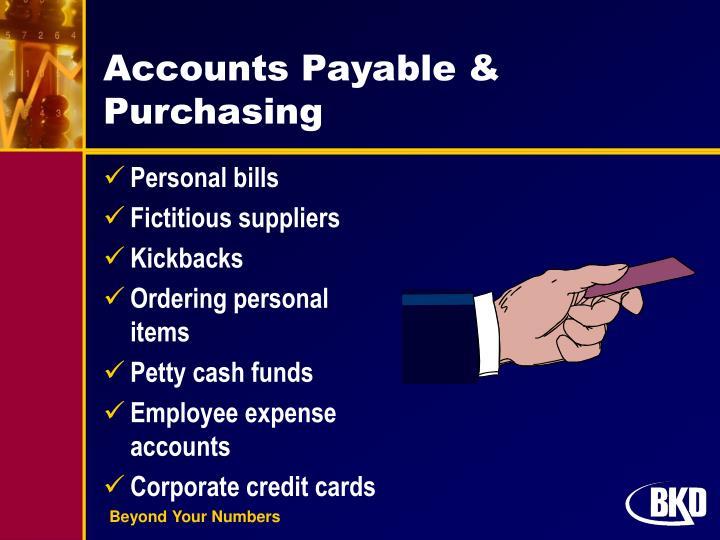 Accounts Payable & Purchasing