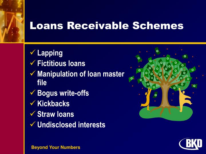 Loans Receivable Schemes