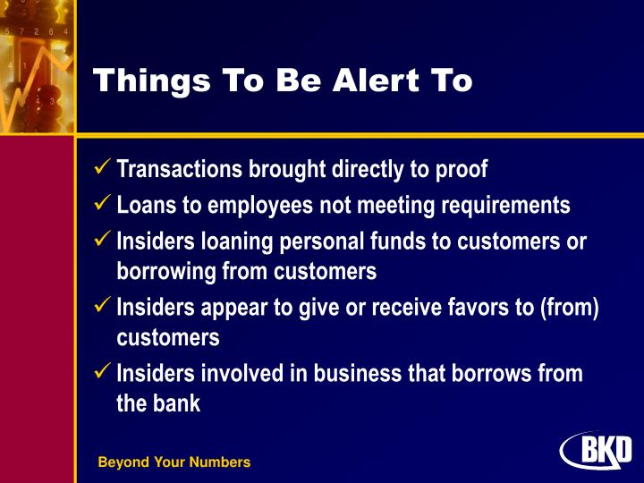 Things To Be Alert To