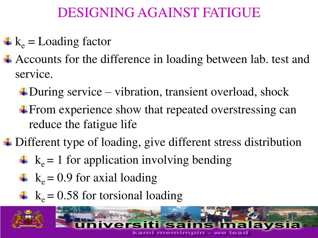 DESIGNING AGAINST FATIGUE