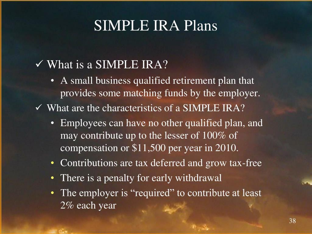 SIMPLE IRA Plans